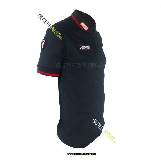 Polo Carabinieri con scritta alamari e scudetto