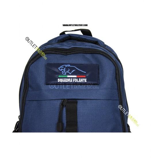 Zaino Tattico Xsmall con Molle 20 Litri Blu Navy + patch velcro squadra volante