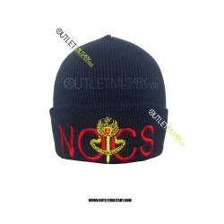 Cappello Tondo in Maglia Blu Polizia N.O.C.S.