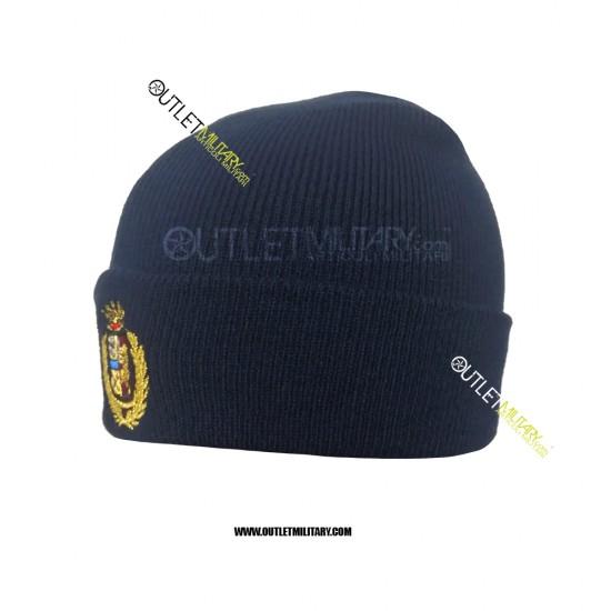 Cappello Tondo in Maglia Blu POLIZIA ARALDICO