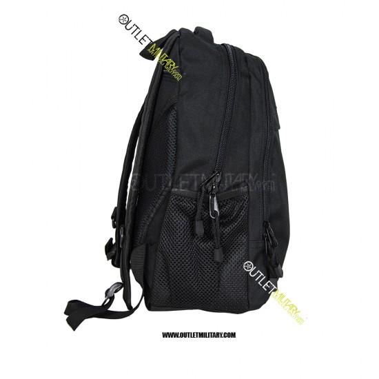 Zaino Tattico Xsmall con Molle 20 Litri Nero + patch velcro guardia giurata