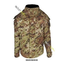 Parka Militare Vegetato Modello Italiano con Interno Staccabile