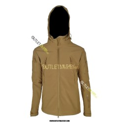 Giacca Termica Soft Shell con Cappuccio SUMMIT TAN