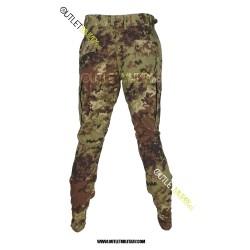 Pantaloni Mimetici Ripstop Con Polyfilo Vegetato