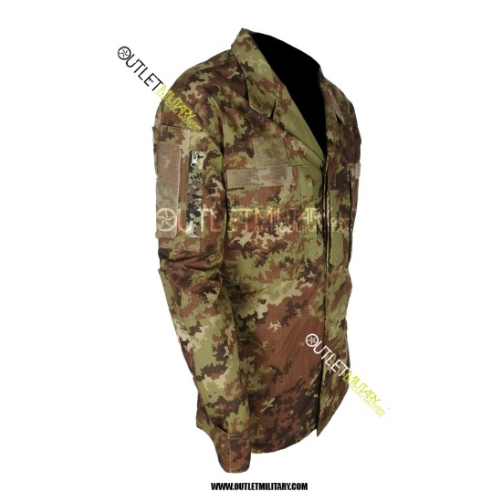 Completo Uniforme Mimetico da Combattimento Antistrappo Vegetato Trattato IR (Mod. Soldato Futuro)
