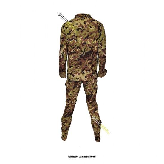 Completo Uniforme Mimetica da Combattimento Antistrappo Vegetato (Mod. Soldato Futuro con stellette applicate)