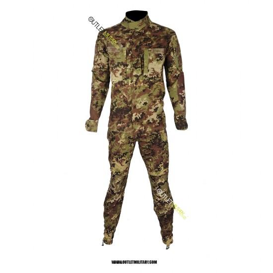 Completo Uniforme Mimetico da Combattimento Antistrappo Vegetato (Mod. Soldato Futuro)