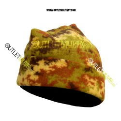 Cappello 3 Punti in Pile Antipilling Vegetato Militare