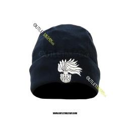 Cappello Tondo Blu in Pile Antipilling CARABINIERI FIAMMA ARGENTO