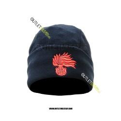 Cappello Tondo Blu in Pile Antipilling CARABINIERI FIAMMA ROSSA