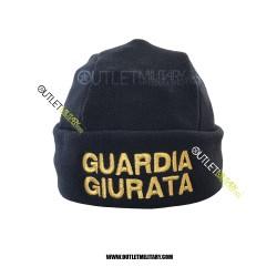 Cappello Tondo Blu in Pile Antipilling GUARDIA GIURATA ORO