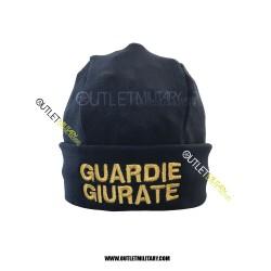 Cappello Tondo Blu in Pile Antipilling GUARDIE GIURATE ORO