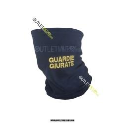 Scaldacollo Blu in Pile Antipilling con Laccio GUARDIE GIURATE ORO
