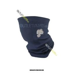 Scaldacollo Blu in Pile Antipilling con Laccio CARABINIERI FIAMMA ARGENTO