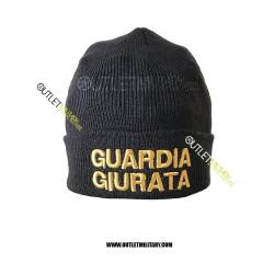 Cappello Tondo in Maglia Blu GUARDIA GIURATA ORO