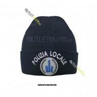 Cappello Tondo in Maglia Blu POLIZIA LOCALE EMILIA ROMAGNA
