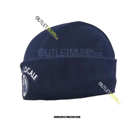 Cappello Tondo Blu in Pile Antipilling POLIZIA LOCALE
