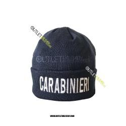 Cappello Tondo in Maglia Blu CARABINIERI IN SCRITTA