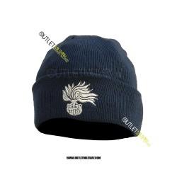 Cappello Tondo in Maglia Blu CARABINIERI FIAMMA ARGENTO