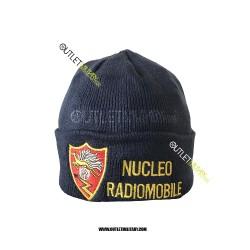 Cappello Tondo in Maglia Blu CARABINIERI RADIO MOBILE CON SCRITTA