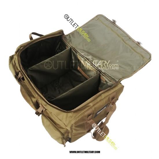 Borsone Trolley Militare con Tre Ruote 130 Litri Coyote TAN