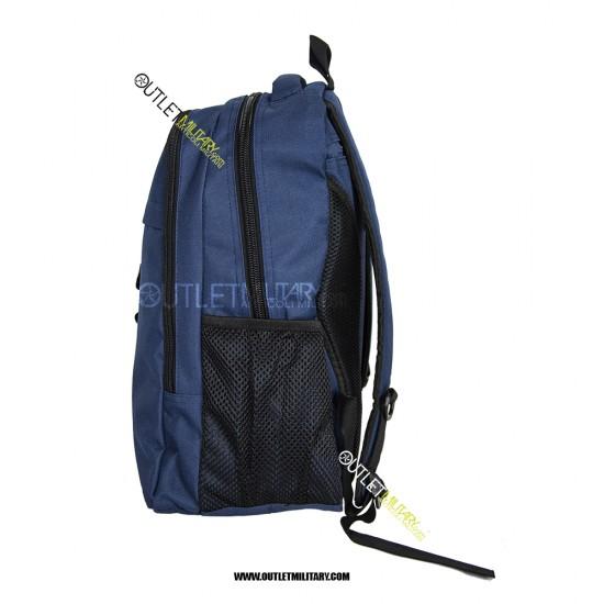Zaino Tattico Xsmall con Molle 20 Litri Blu Navy + patch velcro POLIZIA Reparto Mobile