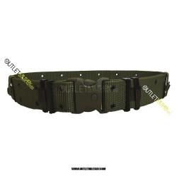 Cinturone Militare Tattico H 5,50 cm con Fibbia di sicurezza Verde