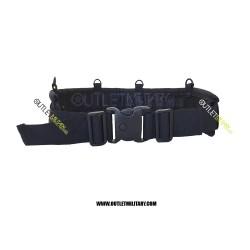 """Cinturone Cordura Comfort Imbottito H 9,00 cm con 4 Anelli """"D"""" Nero"""
