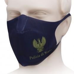 MASCHERINA POLIZIA SCRITTA ORO