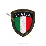 Scudetto Italia Ricamato con velcro