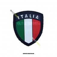 Scudetto Italia Blu Navy con Velcro in Gomma