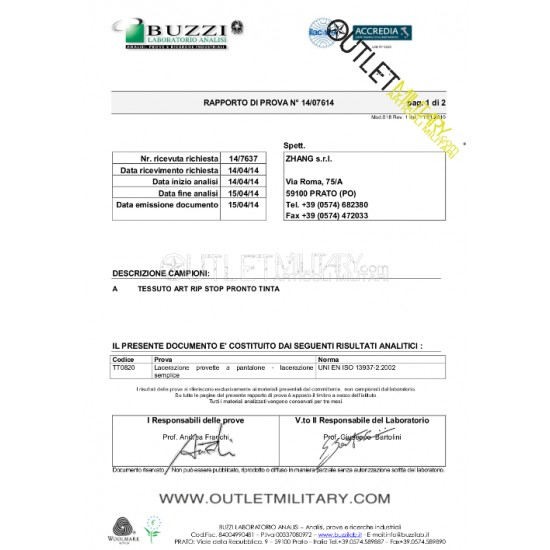 Uniforme Tuta Operativo Ripstop con Polyfilo Blu navy