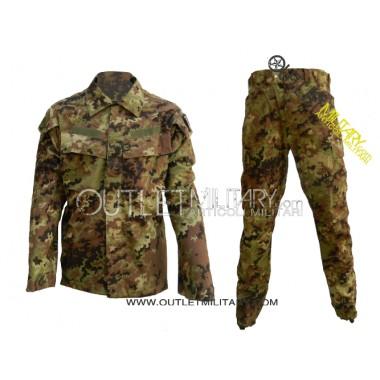 Completo Uniformi Mimetico da Combattimento Antistrappo Ripstop Cotone Vegetato Italiano