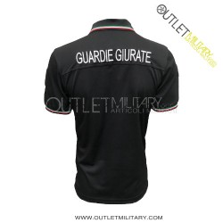 Polo Guardie Giurate Mod. Polipropilene Microfibra Nero