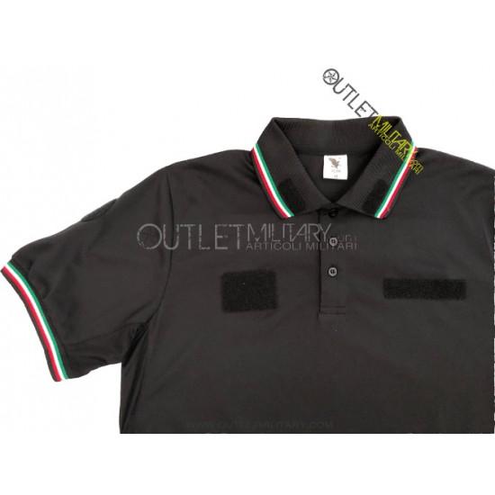 Polo Guardie Giurate Mod. Polipropilene Microfibra Nero