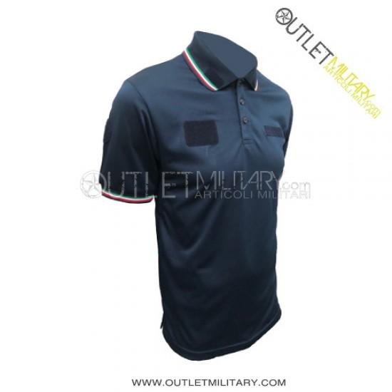 Polo Guardie Giurate Mod. Polipropilene Microfibra Blu Navy