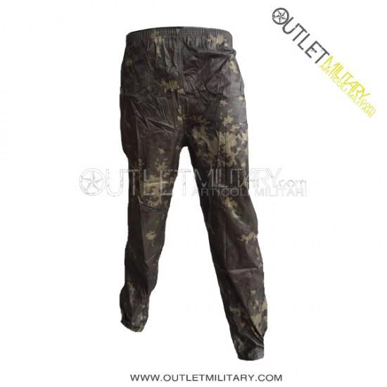 Completo di Giacca e Pantaloni Vegetato Mimetico Impermeabile Nylon