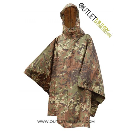 CAMOUFLAGE PONCHO RIPSTOP