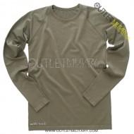 T-Shirt Maniche Lunghe Elasticizzato Uomo Verde