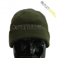 Watch cap wool army green