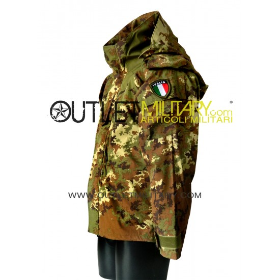 Parka italian camouflage with fleece liner