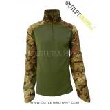 Maglia Combat Shirt Militare Verde e Vegetato