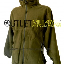 Fleece jacket with zipper army green