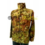 Giacca in Pile Zip Aperta Vegetato Militare