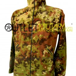 Fleece jacket with zipper camouflage