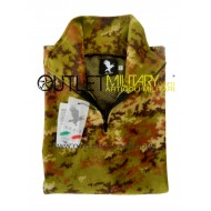 Fleece sweater with zipper camouflage