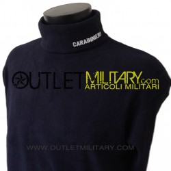 Turtleneck sweater in micro fleece navy CARABINIERI