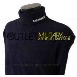 Turtleneck sweater in micro fleece navy CARABINIERI