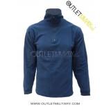 Maglia in Micro Pile Mezza Zip Blu Navy