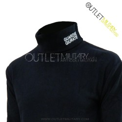 Turtleneck sweater in micro fleece navy Police